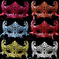 Hot Sale Men Hollow Party Masquerade Máscaras Halloween Half Face Masks Príncipe Princesa Performance Máscaras de carnaval veneziano