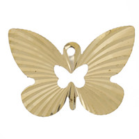 """Wholesale Hollow Butterfly Charms - Copper Charm Pendants Butterfly Hollow Brass Tone Embossed Blank 22mm( 7 8"""") x 15mm( 5 8""""),20 PCs findings new jewelry making DIY"""