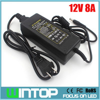 Wholesale Professional Cctv - AC to DC 12V 8A Power Adapter EU US AU UK Plug Professional Switch Power Supply Power Adapter for LED Light LCD Monitor CCTV