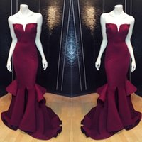 Wholesale 2017 Vestidos Largos De Elegant Evening Dress Floor Length V neck Strapless Sleeveless Mermaid Prom Dress Vestido De Festa