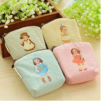 Wholesale Key Case Doll - Wholesale- Kawaii 4Colors DOLL Girl Mini Canvas Coin Purse & Wallet Makeup Storage Holder Case Bag Pouch Key Wallets Carteira Feminina