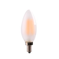 Wholesale E12 Frosted - C35 4W 6W,Retro LED Filament Bulb,Frosted Candle Bulb,E12 E14 Base,Warm White,Chandelier Decorative Lighting,Dimmable