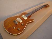 guitarra elétrica diy sólido venda por atacado-A guitarra nova do OEM RPS da chegada da guitarra do OEM, laranja estourou, forma especial do corpo!