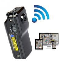 mini dv mp al por mayor-MD81S WiFi Mini Cámara Videocámara IP P2P Mini DV Cámara inalámbrica Grabación de seguridad Videocámara Video Vigilancia Webcam Android iOS MOQ; 5PCS