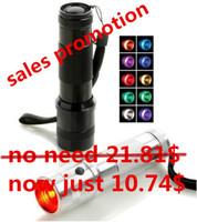 Wholesale rgb rainbow - Promotion Colorshine LED RGB Color Changing Torch Flashlight,3W Aluminium Alloy RGB Edison Multi color led flashlight rainbow of color Flash