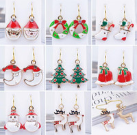 Wholesale Earring Christmas Bell - New Fashion Women Santa Claus Snowman lovely Tree Bell Christmas Jewelry Christmas Earring For Women best Gifts cc748