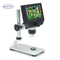 dijital mikroskop elektronik büyüteç toptan satış-Taşınabilir 600X3.5MP Dijital Mikroskop 4.3