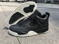 Trasporto di goccia Retro 4 Horse Shoes IV Premium scuri Premium Black Pony capelli Pinnacle Mens Sneaker atletica Calzature