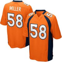 Wholesale Denver Football Jerseys - Youth Kids #58 Von Miller Jersey, Denver Von Miller 100% Stitched Embroidery Logos Football Jerseys Mix Order Wholesale S-XL