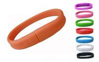 Wholesale 64 Gb Usb Bracelet - 5 Piece No Logo PVC Bracelet USB Flash Drives Brand New Plastic Bracelet U Disk USB2.0