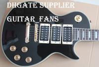 Wholesale Block Inlay - Custom Peter Frampton Signature Ebony Fingerboard Electric Guitar Gold Hardware Gold Speed Knobs 3 Pickups Block MOP Fingerboard Inlay