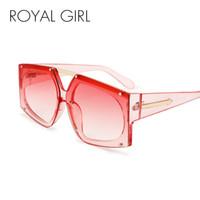 diseño de estilo real al por mayor-REAL GIRL Estilo Único Diseño Gafas de Sol Mujeres Elegantes Sin Montura Gafas Hombres Cuadrados Oculos UV400 ss888