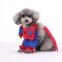 spider dogs - Spider man Super Dog Superhero DOG Bat man dog clothes cat clothing four legs Change to pack puppy pet teddy mixs Christmas gift