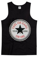 Wholesale Gang Style - Wholesale-Hip Hop TAYLOR GANG tank Men's fashion shirts New Style Casual men Tops For Men Summer vest Men's free shipping