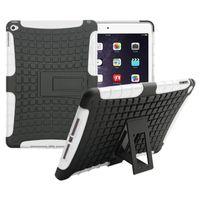 Wholesale Rugged Armor Skin Hard Case - High Quality Hybrid Armor Rugged Hard Case Cover Stand Skin For iPad Air 2 iPad mini 3 4 Pro
