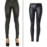 81a4d3fafabd Venta al por mayor de Pantalones De Cuero De Mujer - Comprar ...