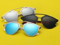 Wholesale Butterfly Fashion Shop - 2016 Vintage Designer Sunglasses So Real Reflective Sun Glasses Good Quality Wholesale Sunglasses Shop Mix 8 Colors