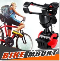 Wholesale Mobile Phone Mount Motorcycle - Bike Mount,Motorcycle Bicycle Handlebar Holder Stand for Smart Mobile Phones GPS MTB Support iPhone 6 plus 6 5s  5 4S 4, GPS Devices