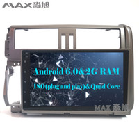 Wholesale Gps For Toyota Land Cruiser - 1024*600 quad core 2G+16G Android 6.0 Car DVD Player for Toyota prado  LC150  150 2010-2013 with Radio BT WIFI SWC