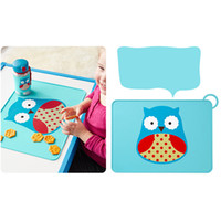 Wholesale Children Dining Pad Mats Placemats Cute Cartoon Soft Silicone Waterproof Placemat For Kid Baby Feeding baby Table Mat by DHL