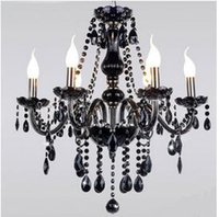 Wholesale Cheap Candle Led - New Cheap Black Murano Chandelier Light modern black chandelier restaurant chandeliers glass Candle chandeliers crystal ball chandelier
