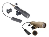 Wholesale rail mounted flashlight - M300C LED CREE Mini Scout torch flashlight 20mm rail mount for hunting