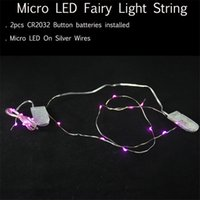 Wholesale Garden Wedding Ceremony - Wholesale- Wedding Ceremony Christmas Party Celebration Home Patio Lawn Garden Decorations Silver Wire Micro LED String Lights with Battery