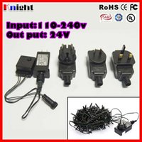 Wholesale 24v Adapter Plug - 24-31V 3.6w 6w 7.2w transformer adapter 8mode flashing mode controller led string light 24v electronic transformer EU AU BS UL 110-240v plug