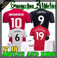 Wholesale United Soccer - 2017 2018 best Thai Quality home away jerseys 17 18 UnITED Ibrahimovic MEMPHIS ROONEY POGBA LUKAKU RASHFORD jerseys Adults and kids S-4XL