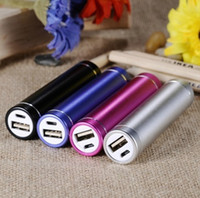 Wholesale Power Bank Charger Lipstick Portable - Portable External Battery USB Charger Backup Power Bank For iPhone Samsung NEXUS Fashionable aluminum Lipstick 2600 mAh Power Bank