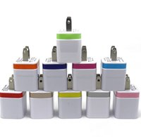 Wholesale Smartphon Android - Dual USB Port Wall Charger Aluminum Metal Universal Travel Adapter CellPhones Charger for Apple iPhone Samsung HTC Android Smartphon Mp3 Mp4
