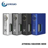 GeekVape Athena Squonk Modo Meccanico con Bottone da 6,5ml Silicone Squonk Powered by one 18650 Cell 100% ecig mods