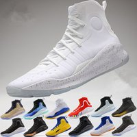 Wholesale Mvp Shoes - 2017 Stephen Curry 4 IV Basketball Shoes steph Mens Curry 4 Gold Championship MVP Parade Finals Sports training Sneakers Size 40-46