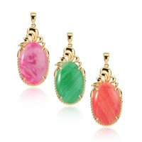 Wholesale Twist Gold Noble - New Arrival Classical Women's 18K Gold Plated Opal Marquise Pendant Neckalce Noble DIY Pendant Free Shipping