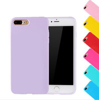 Wholesale iphone plus jelly gel case online - For iPhoe7 Thin Slim Colorful Candy Silicone Rubber Gel Jelly Glossy TPU Back Case Cover For iPhone S SE S Plus iPhone6
