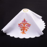 Wholesale Holy Catholic Church Mass Altar Cloth Purificator for Chalice Pall Flower Printed Lace Cover High Quality