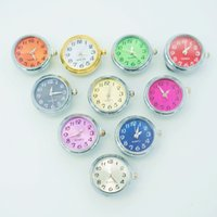 Wholesale Charm Watches Sale - Hot sale NS0041 Beauty Charm Round Watch 18MM snap buttons for DIY ginger snap Jewelry Accessories charm wholesale