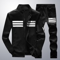 Cardigan outdoor clothing jackets - 2017 Brand clothes Spring outdoor Men Thin Jacket pants Mens Sports Suit Men Tracksuit Hoodies Sweatshirts sportswear man YRB65