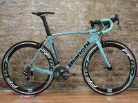 Wholesale Bike Bianchi - Bianchi Blue Full Carbon Road complete Bike Bicycle With FFWD 50mm WHEELSET Alloy brake Sale handlebar saddle
