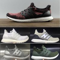 Wholesale Running Shoes Large - Large Size Ultraboost 3.0 Running Shoes Men Women High Quality Ultra Boost 3 III Primeknit Runs White Black Athletic Shoes Size 36-47