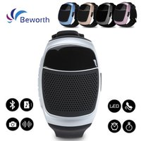 Wholesale protable mp3 player for sale - B90 Watch Style Speakers Mini Protable Bluetooth Wireless Speaker Multi function LED Display Screen Support TF Card VS U8 DZ09 GT08 A1 Watch