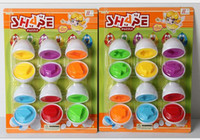 Wholesale Egg Shape Puzzle - Promotion Wholesale 200pcs Mixed Shape Wise Pretend Puzzle Smart Eggs Baby Kid Learning Kitchen Toys Tool supper kids