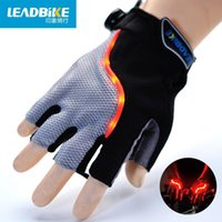 Wholesale Adult Bicycles - Luminescence Half Bicycle Mobile Phone Touch Outdoor Sport Agent Scott Fiber Fabric Goods In Stock Racing Gloves Adult Are 2XL Cycling