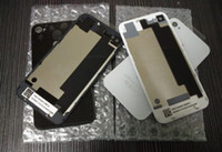 Wholesale Cheap Iphone Glass Replacements - Cheap price DHL Free Back Glass Battery Housing Door Back Cover Replacement Part With Flash Diffuser For iphone 4 4G 4S