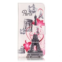 Wholesale Anchor Iphone Cases - Anchor Wave Elephant Wallet Leather Pouch Case For IPhone 7 I7 Iphone7 Eiffel Tower Dreamcatcher Dog Owl Feather Butterfly Card SKin Cover