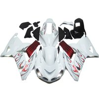Wholesale White Zx14r - Motorcycle Fairings For Kawasaki ZX14R ZX-14R ZZR1400 Year 06 07 08 09 10 11 2006 - 2011 ABS Injection Fairing Kit Bodywork White Red