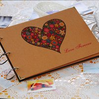 Wholesale Free Picture Albums - album wedding New Creative DIY 10 Inch Paper Photo Albums Manual Family Album Newborn Gifts Baby Lovers Memory Picture Albums Free Ship
