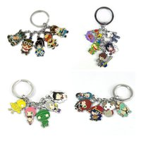 Wholesale Cosplay Game Models - Hot!10Set Mixed Anime Game League of Legends keychain Zinc Alloy Keyrings Metal Cute Figures pendants Game model Cosplay toy Collection