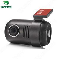 видеокамера с картой памяти оптовых-HD мини автомобильный видеорегистратор камера автомобиля тире камеры видеорегистратор тире Cam для DVD-плеер широкий угол с G-сенсор KF-A1036