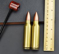 Wholesale Metal Bullet Lighters - Creative bullet bright metal lighters, glass hookah accessories,Color random delivery